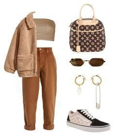 """""""#912"""" by babygyal09 ❤ liked on Polyvore featuring Louis Vuitton, Miu Miu, H&M, Vans and AlexaChung"""