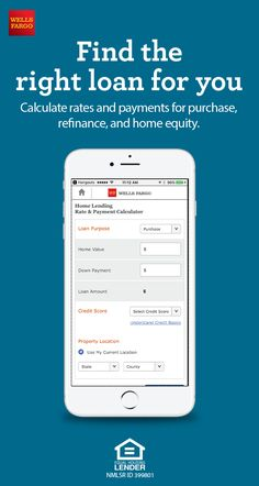 Buying a house? Estimate how much you may be able to borrow with todays mortgage rates and refinance rates. Use our Wells Fargo Mortgage Rate and Payment tool to calculate rates and payments for purchase refinance and home equity. Refinance Mortgage, Mortgage Tips, Mortgage Rates, Mortgage Estimator, Mortgage Payment Calculator, Wells Fargo Mortgage, Home Equity Line