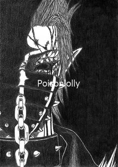 Druid [Eternal Mask] by Poisonlolly. Dark horror artwork created with graphite on paper. © Poisonlolly