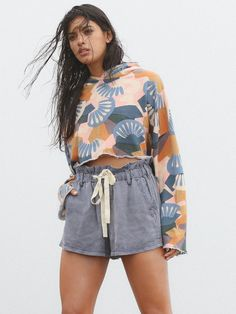 Periwinkle High Waisted Wash Short at Free People Clothing Boutique