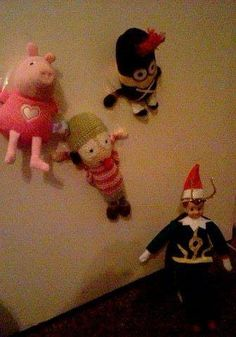 December 3rd. Mischievous Loki Elf decided to capture Sarah, Peppa and Minion and tape them to the door!