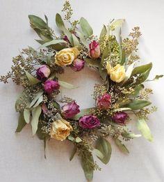 hoe om te drogen rozen maken een roos krans, ambachten, bloemen, hoe te, kransen