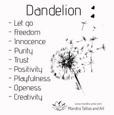 Dandelion tattoo meaning and placement. When we were kids we believed that blowing a dandelion to the wind could make our wishes come true. If you want to be honest you still crave to do it sometimes. Read more. Meaningful Symbol Tattoos, Symbol Tattoos With Meaning, Meaningful Tattoos For Women, Tattoo Symbols, Tattoo Design With Meaning, Drawings With Meaning, Tattoo Designs And Meanings, Wind Tattoo, 1 Tattoo