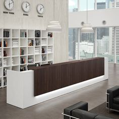 Modern Office Lobby Furniture reception desks - contemporary and modern office furniture | the