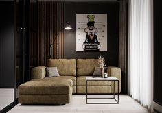 "Apartment in Kharkiv ZHK ""Dom na Sokol'nikakh"" - Dezign Ark (Beta) Home Room Design, Dream Home Design, Elephant Home Decor, Living Room Tv Unit Designs, Bathroom Design Luxury, Cool House Designs, Modern Room, Apartment Design, House Rooms"