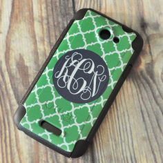 Personalized Otterbox Case HTC One X (AT) : Personalized Gifts - Preppy Monogrammed Gifts @ 2PreppyGirls.com Have mine ordered, so cute and it will protect your phone as well!