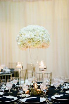 Photographer: Tamara Gruner Photography; Wedding reception centerpiece idea;