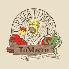 Homer - ToMacco, The Simpsons Homer Simpson, Simpsons Drawings, Simpsons Art, Crazy Cat Lady, Crazy Cats, Los Simsons, Digital Foto, Day Of The Shirt, Famous Cartoons