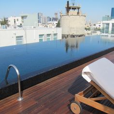 Rooftop infinity pool at The Norman Hotel, Tel Aviv, Israel