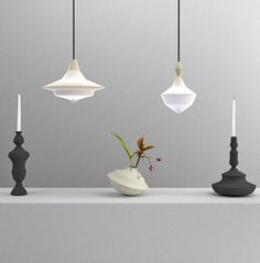 Paris based design studio NOCC have produced a range of objects whose forms are generated according to the shape of sound waves recorded when their names are pronounced. The collection, named Object of Sound, includes a candle holder, lampshade, and vase. The profile of the soundwave recorded for each product is rotated into a 3D …