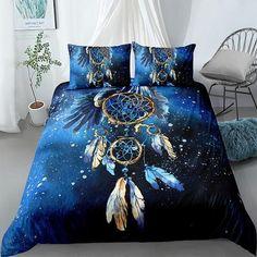 Bed Sets, Comforter Cover, Duvet Cover Sets, Dream Catcher Bedding, Lit Queen Size, Cheap Bedding Sets, 3d Bedding, Unique Bedding, Blue Duvet