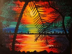10 Sunrise Sunset Paintings Ideas Paint And Sip Pinots Palette Painting Class