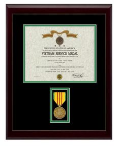 13 12 x 18 vietnam service frame display bottom mat color