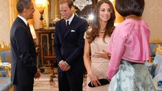 William and Kate meet the Obamas in first royal duties as newlyweds