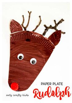 Arty Crafty Kids - Christmas - Paper Plate Rudolph