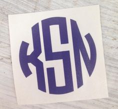 A personal favorite from my Etsy shop https://www.etsy.com/listing/228697985/circle-monogram-vinyl-decal