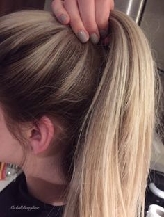 Rooty Blonde Balayage toned Icy Beige
