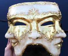 Mens Masquerade Mask Three Face Mask Mardi Gras Mask by isn't there a crowd? Mens Masquerade Mask, Masquerade Party, Fox M, Masked Man, Cool Masks, Venetian Masks, Beautiful Mask, Masks Art, Cosplay