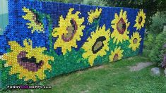Bottle Cap Art Mural animals | of PET bottle caps 533x299, Decoration of PET bottle caps, art ...