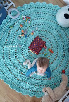 Kids Bedroom Rugs Australia mint & grey crochet round rug - babyrooms round rug - nursery