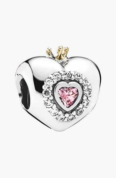 PANDORA 'Princess Heart' Bead Charm available at #Nordstrom