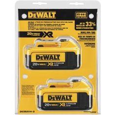 DEWALT DCB204-2 20V Max Premium XR Li-Ion Battery, 2-Pack, Cordless Tool Accessories - Amazon Canada