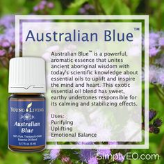 Australian Blue™ is a powerful, aromatic essence that unites ancient aboriginal wisdom with today's scientific knowledge about essential oils to uplift and inspire the mind and heart.