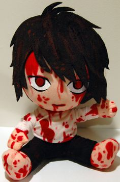 This kinda looks like Jeff the killer but I saw it was L  .....