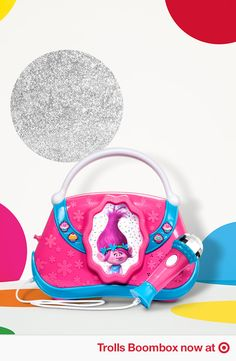 Rock Your True Colors out loud. Find the toy boombox and more fun DreamWorks Trolls gear at Target.