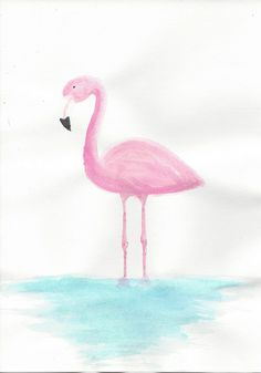 Flamingo watercolor painting that I did. Based on this photo: http://pinterest.com/pin/23784704254852561/