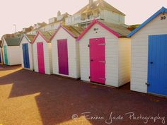 Beach Huts / 10x8 Photography Print Photograph Torquay England Colour Seaside Art Landscape