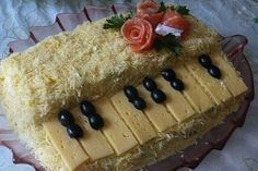 Salad «White piano»