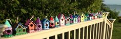 Mini Wood Birdhouse For Indoor Or Outdoor Use Custom Hand Painted To Meet Your…