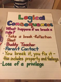 Responsive Classroom Logical Consequences!