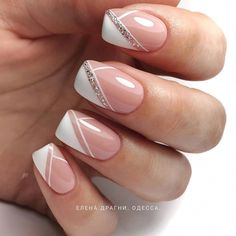 There must be your favorite nail ideas in 140 classic nail designs. - Page 135 of 139 - Inspiration Diary There must be your favorite nail ideas in 140 classic nail designs. - Page 135 of 139 - Inspir French Nails, French Manicure Nails, White Manicure, Nail Nail, White Nails, Gold Nails, Nail Design Glitter, Manicure Nail Designs, Gel Nail Art Designs