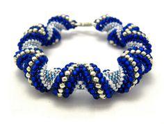 Alternating spiral Cellini bracelet