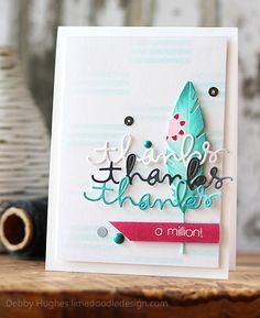 Debby Hughes #cards #scrapbooking #DIY #crafts #feathers