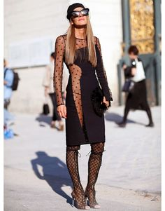 Paris Fashion Week, Street Mode (Black) - Paris Moda Haftası'nda sokak stili