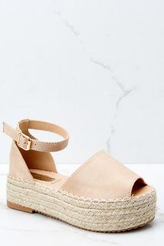 6c5b8ddb86c Go My Own Way Nude Flatform Sandals. Ankle Strap WedgesSandal WedgesWedge  ...