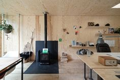 Atelier Pam&Jenny - l'escaut - Belgium - Sunken Studio - Stove - Humble Homes