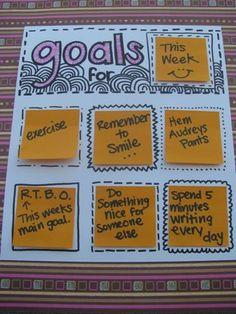 Post-it Note Rotating Goal Chart