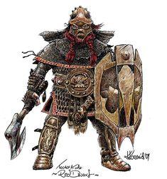 Tolkien - Dwarf by Rzenio.deviantart.com on @deviantART