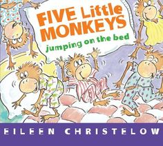 Five Little Monkeys Jumping on the Bed board book by Eileen Christelow, http://www.amazon.com/dp/0547896913/ref=cm_sw_r_pi_dp_LtTBrb00SF30C