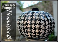 The V Spot: Make a Houndstooth Pumpkin from Duck Tape