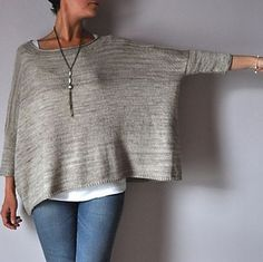 Joji Boxy Pullover Sweater Knitting Pattern