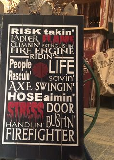Firefighter Subway Art Sign – Signs of Vinyl  #firefighter #signquotes