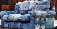 10 чудесных идей для создания оригинального интерьера с помощью старых джинс