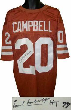 08056af5 Earl Campbell signed Texas Longhorns Orange Custom Jersey HT 77 (Heisman)-  JSA Hologram