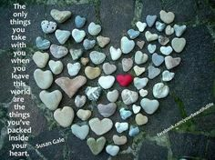 How to display heart rock collections!