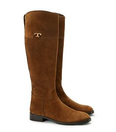 Perfect color.  Perfect shape.  Perfect for skirts or jeans. Tory Burch Wembley Riding Boot